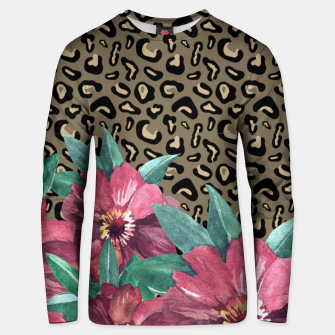 Thumbnail image of Floral Muted Pastels Watercolor Unisex Sweater, Live Heroes