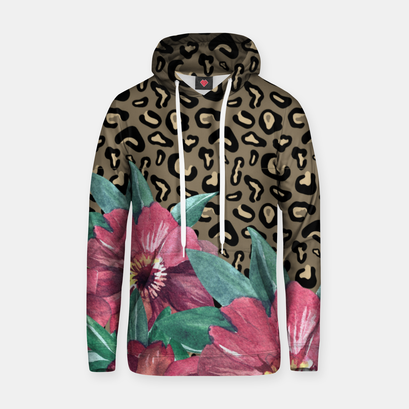 Image of Floral Muted Pastels Watercolor Hoodie - Live Heroes