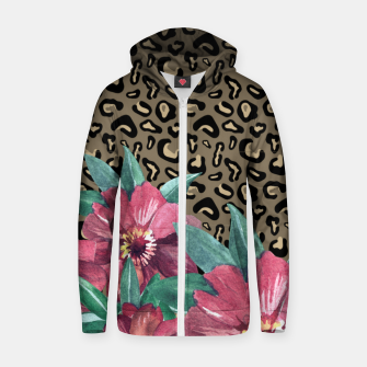 Floral Muted Pastels Watercolor Zip Up Hoodie thumbnail image