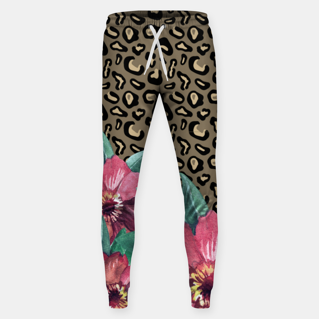 Image of Floral Muted Pastels Watercolor Sweatpants - Live Heroes
