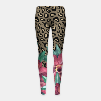 Floral Muted Pastels Watercolor Girl's Leggings thumbnail image