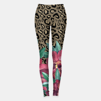 Floral Muted Pastels Watercolor Leggings thumbnail image
