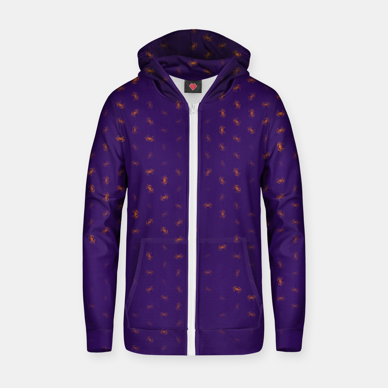 Image of cancer zodiac sign pattern po Zip up hoodie - Live Heroes