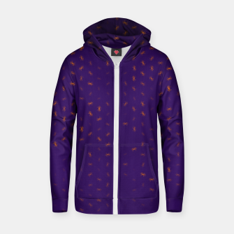 cancer zodiac sign pattern po Zip up hoodie thumbnail image