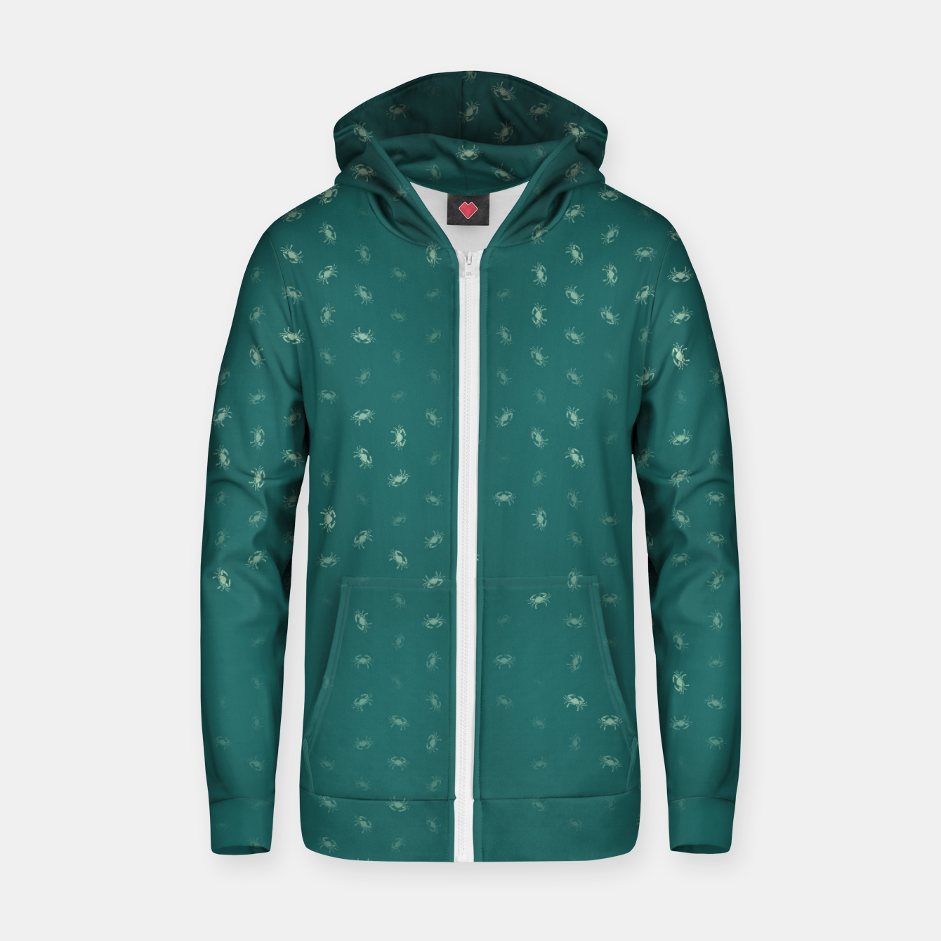 Image of cancer zodiac sign pattern tw Zip up hoodie - Live Heroes