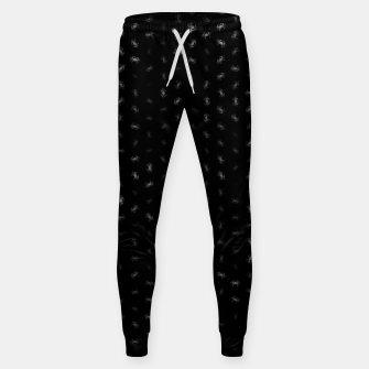cancer zodiac sign pattern bw Sweatpants thumbnail image