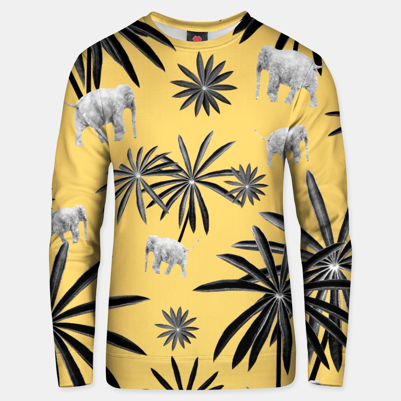 Image of Palm Tree Elephant Jungle Pattern #4 (Kids Collection) #decor #art  Unisex sweatshirt - Live Heroes