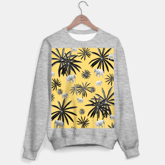 Palm Tree Elephant Jungle Pattern #4 (Kids Collection) #decor #art  Sweatshirt regulär obraz miniatury