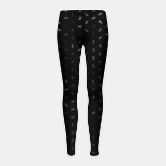 cancer zodiac sign pattern bw Girl's leggings thumbnail image
