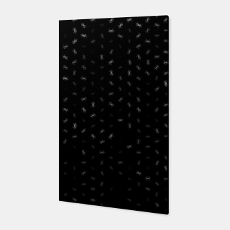 cancer zodiac sign pattern bw Canvas thumbnail image