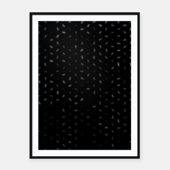 cancer zodiac sign pattern bw Framed poster thumbnail image