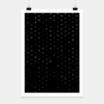 cancer zodiac sign pattern bw Poster thumbnail image