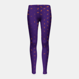 cancer zodiac sign pattern po Girl's leggings thumbnail image