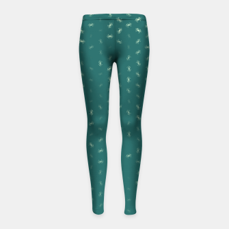 cancer zodiac sign pattern tw Girl's leggings thumbnail image