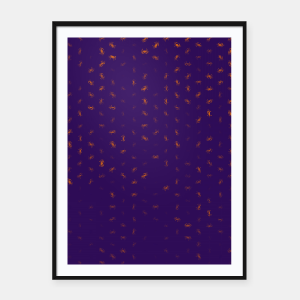 cancer zodiac sign pattern po Framed poster thumbnail image