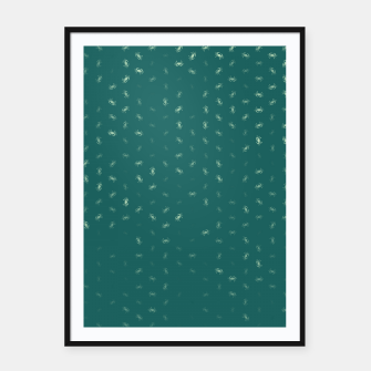 cancer zodiac sign pattern tw Framed poster thumbnail image