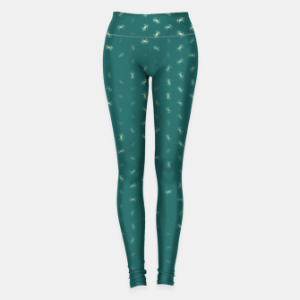 cancer zodiac sign pattern tw Leggings thumbnail image