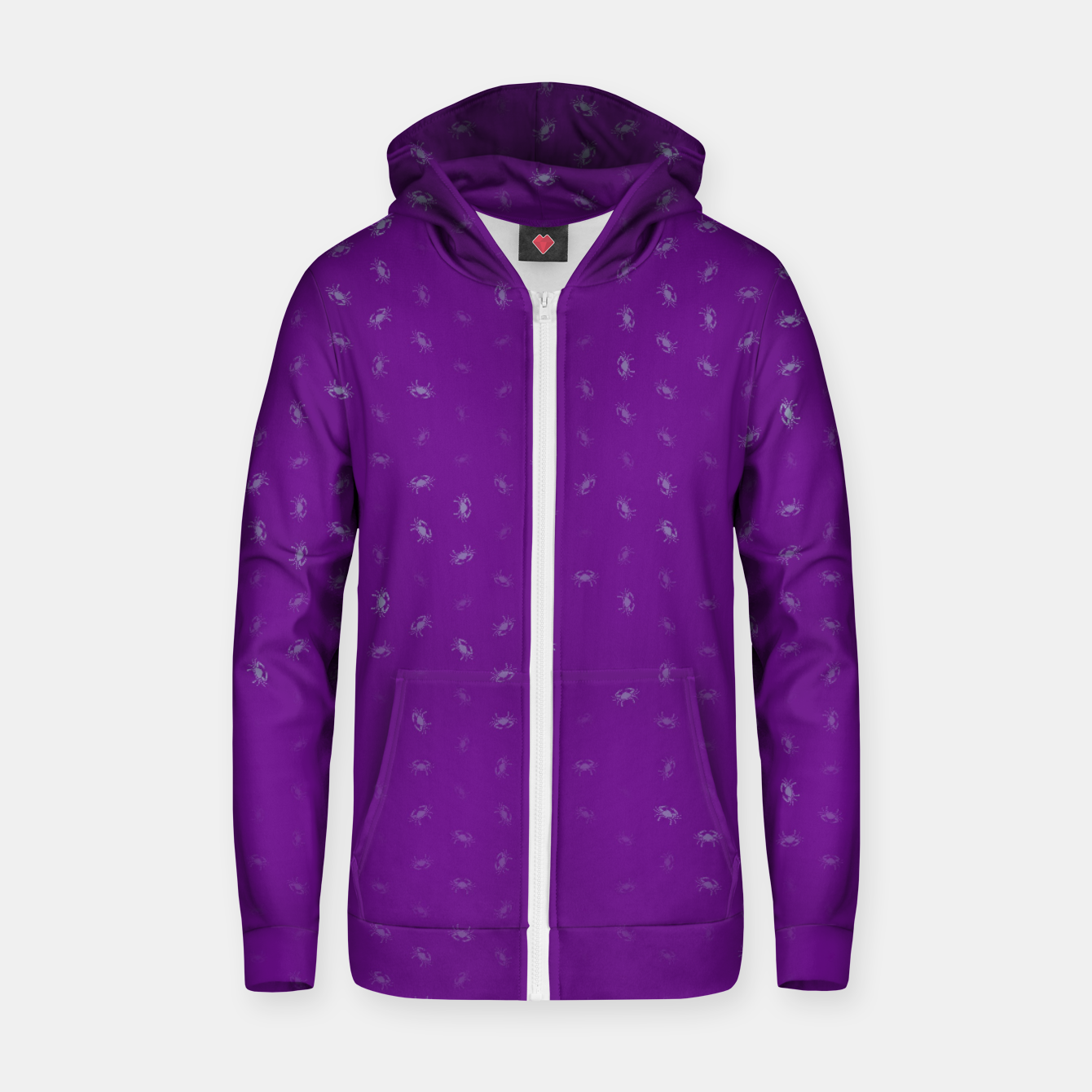 Image of cancer zodiac sign pattern pt Zip up hoodie - Live Heroes