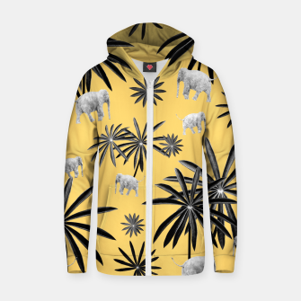 Imagen en miniatura de Palm Tree Elephant Jungle Pattern #4 (Kids Collection) #decor #art  Reißverschluss kapuzenpullover, Live Heroes