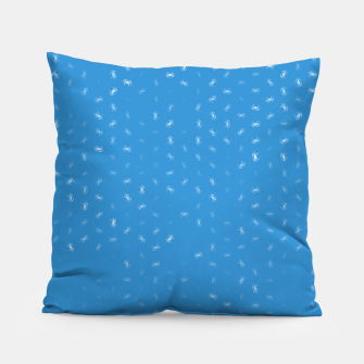 cancer zodiac sign pattern wb Pillow thumbnail image