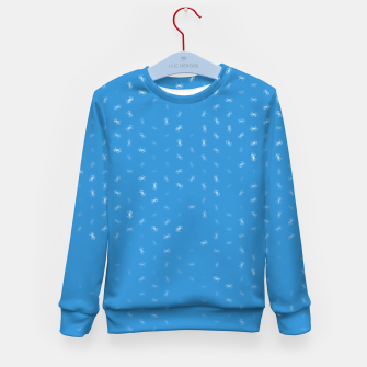cancer zodiac sign pattern wb Kid's sweater thumbnail image
