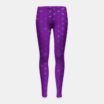cancer zodiac sign pattern pt Girl's leggings thumbnail image