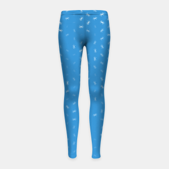 cancer zodiac sign pattern wb Girl's leggings thumbnail image