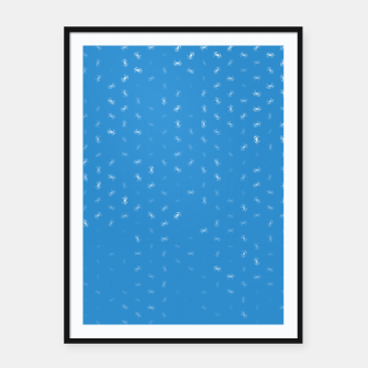 cancer zodiac sign pattern wb Framed poster thumbnail image
