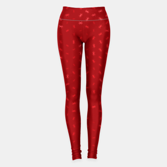 cancer zodiac sign pattern dr Leggings thumbnail image