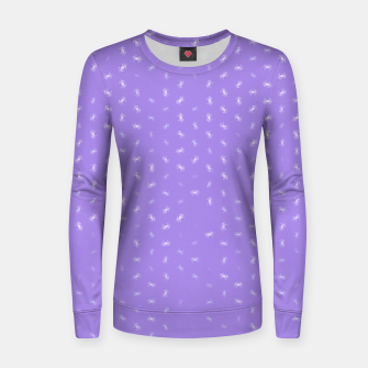 cancer zodiac sign pattern pu Women sweater thumbnail image