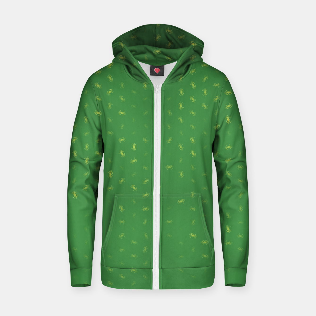 Image of cancer zodiac sign pattern gr Zip up hoodie - Live Heroes