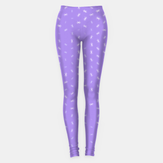 cancer zodiac sign pattern pu Leggings thumbnail image