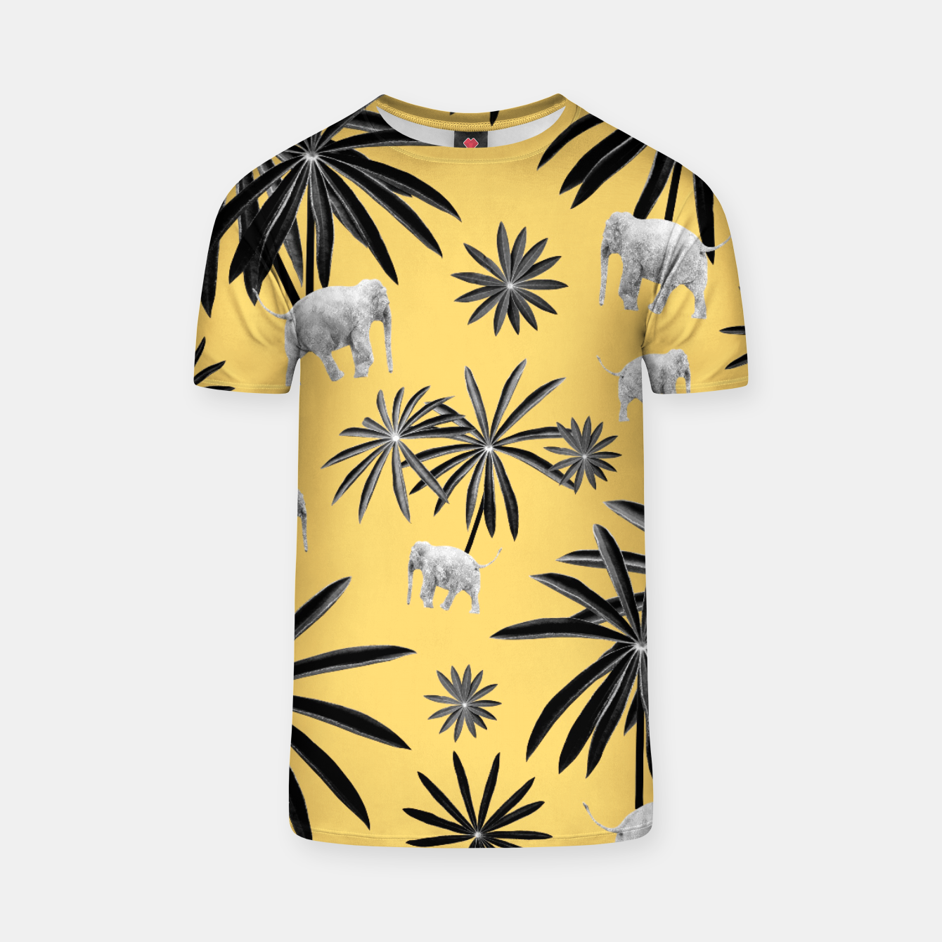 Zdjęcie Palm Tree Elephant Jungle Pattern #4 (Kids Collection) #decor #art  T-Shirt - Live Heroes