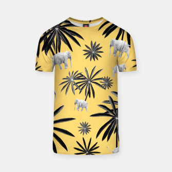 Palm Tree Elephant Jungle Pattern #4 (Kids Collection) #decor #art  T-Shirt obraz miniatury