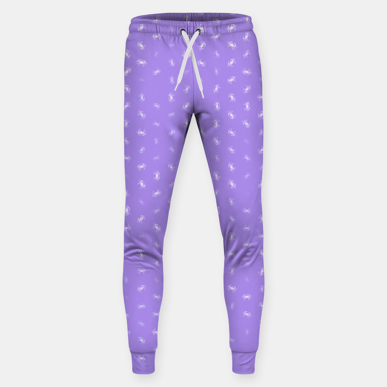 Image of cancer zodiac sign pattern pu Sweatpants - Live Heroes