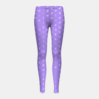 cancer zodiac sign pattern pu Girl's leggings thumbnail image