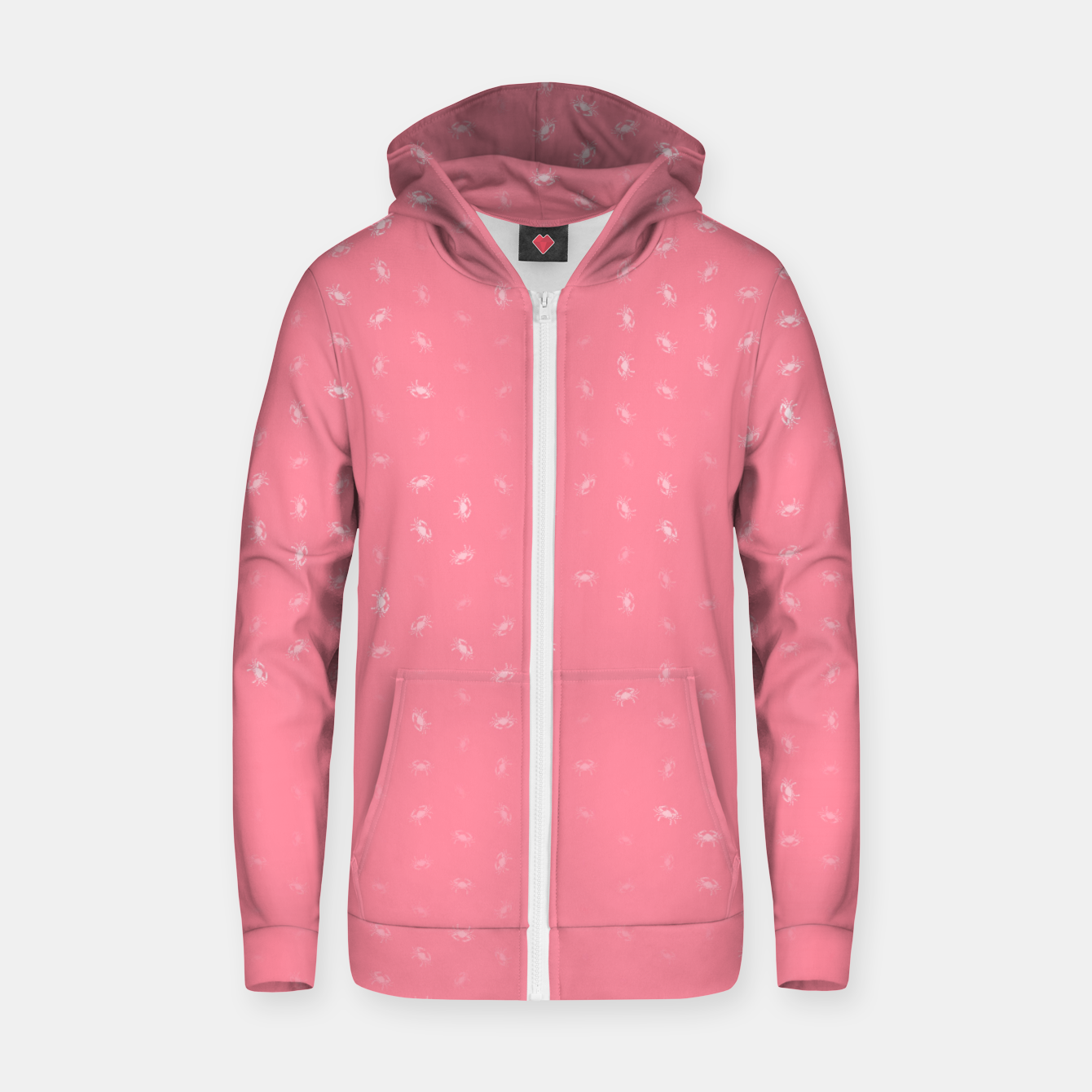 Image of cancer zodiac sign pattern pw Zip up hoodie - Live Heroes