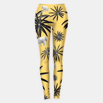 Palm Tree Elephant Jungle Pattern #4 (Kids Collection) #decor #art  Leggings obraz miniatury