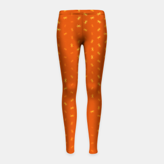 cancer zodiac sign pattern yo Girl's leggings thumbnail image
