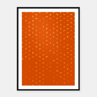 cancer zodiac sign pattern yo Framed poster thumbnail image