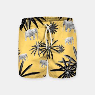 Palm Tree Elephant Jungle Pattern #4 (Kids Collection) #decor #art  Badeshorts obraz miniatury