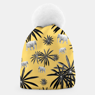 Palm Tree Elephant Jungle Pattern #4 (Kids Collection) #decor #art  Mütze thumbnail image