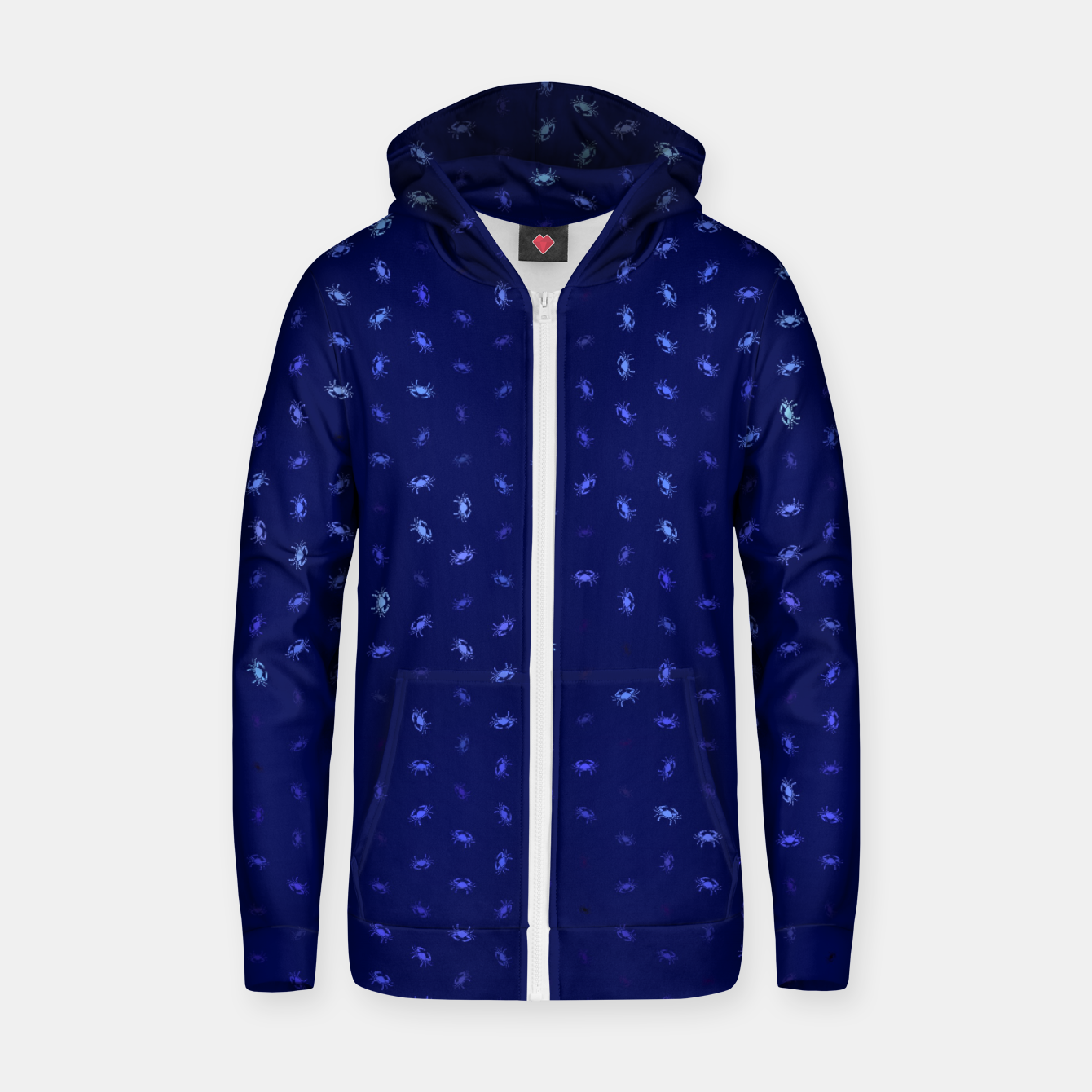 Image of cancer zodiac sign pattern std Zip up hoodie - Live Heroes