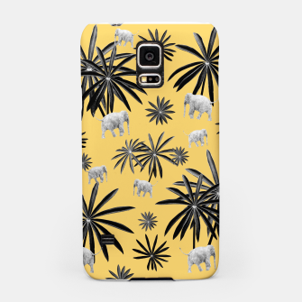Palm Tree Elephant Jungle Pattern #4 (Kids Collection) #decor #art  Handyhülle für Samsung obraz miniatury