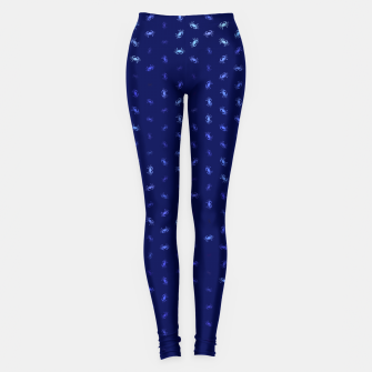 cancer zodiac sign pattern std Leggings thumbnail image
