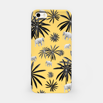 Palm Tree Elephant Jungle Pattern #4 (Kids Collection) #decor #art  iPhone-Hülle obraz miniatury