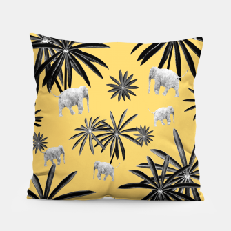 Palm Tree Elephant Jungle Pattern #4 (Kids Collection) #decor #art  Kissen obraz miniatury