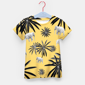 Imagen en miniatura de Palm Tree Elephant Jungle Pattern #4 (Kids Collection) #decor #art  T-Shirt für kinder, Live Heroes