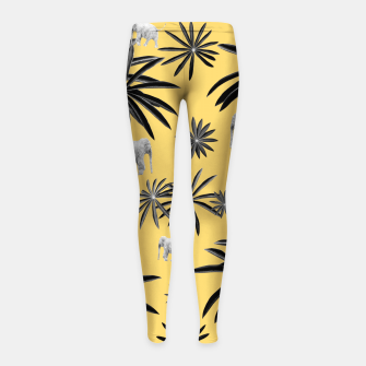 Palm Tree Elephant Jungle Pattern #4 (Kids Collection) #decor #art  Kinder-Leggins obraz miniatury
