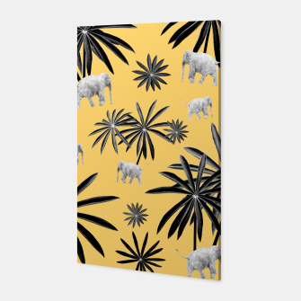 Palm Tree Elephant Jungle Pattern #4 (Kids Collection) #decor #art  Canvas thumbnail image